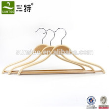 Supermarket Anti Slip Adult Clothes Laminated Hangers
