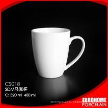 directo de fábrica venta taza de cerámica de loza blanco estupendo de uso de hotel