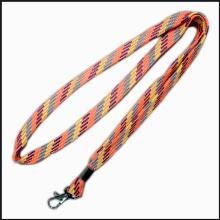 Lanières faites sur commande de logo de polyester tricoté par tissu étroit pour annoncer le cadeau