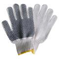 Gestrickte Baumwollarbeitshandschuhe mit einzelnem PVC-Punkt