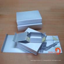 Boîte en carton pliée, boîte pliante en papier cadeau, boîte pliable en papier (HBBO-3)