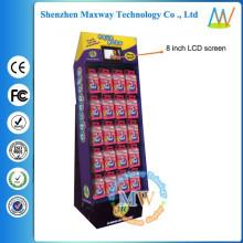 картонная рекламная стойка дисплея игрушки с 8-дюймовый ЖК-экран