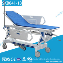 SKB041-1B Stainless Steel Patient Tranfer Trolley With Metal Frame
