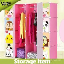 Hot Selling Closet Organizer Plastic Kids Bedroom Wardrobes