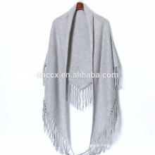 P18C05TR fringe cashmere Poncho knit poncho cover-up