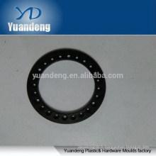 Rondelles personnalisées en aluminium anodisé noir CNC