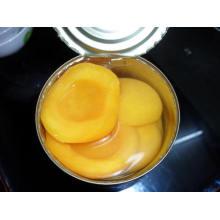 Fruta enlatada; Melocotón enlatado en la mitad; Melocotón Amarillo en Conserva