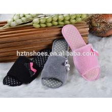 Дешевая цена открытый носок закрытая тапочка TPR подошва женская обувь комнатная туфелька