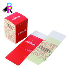 China supplier pretty art paper skin care box packaging