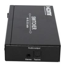 Hotsale 4X1 HDMI Switcher 1.4V com saída de áudio