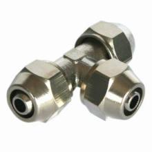 Neumático Fitting/One toque latón conexión (conector t)