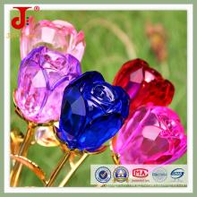 Décorations de table de mariage en cristal de verre rose fleur (JD-CF-100)