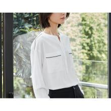 Sommer sauber Pure White Rundhals Damen Shirt
