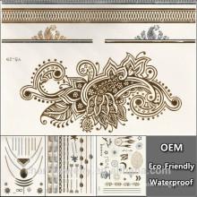 Los nuevos tatuajes de la manera del diseño de la venta caliente tatúan el envío temporal impermeable YS029-1 de la gota de la pintura del arte de cuerpo del tatuaje de la etiqueta engomada