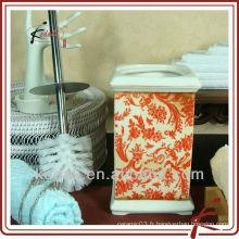 Brosse de toilette en céramique avec support