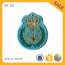 EP-07 China Custom flat flag patch embroidery patches garment patch with logo