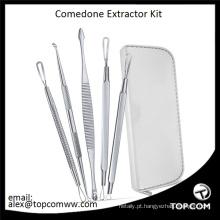 Kit de Removedor de Cravo e Espinha - Instruções Incluídas 6 Ferramentas Extrator Comedone