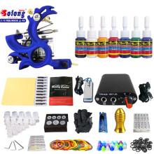 Kit de tatouage débutant TK105-18 de Solong avec des kits de tatouage d'alimentation d'énergie de pistolet de tatouage avec des aiguilles