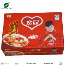 Caja de comida de cartón de impresión en color