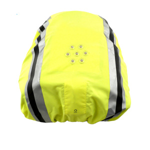 Reflective safety bag cover with LED lights