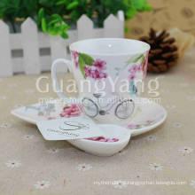 Delicate Design Artwork Porcelain Empty K Cup
