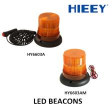 60 lampe à alvéoles LED à haute luminosité Led Voyant d'avertissement Base magnétique Lampes à LED avec fonction tournante Lumière stroboscopique LED