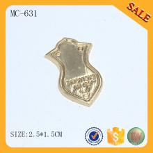 MC631 Personnalisé pour l'accessoire sac Étiquette en métal doré