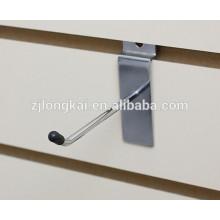"""Metal wire wall hanging bag chrome plated hook 6"""" single slatwall hooks"""