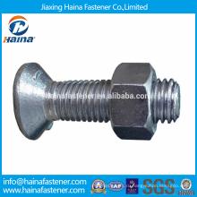 На складе Китайский производитель Лучшая цена din604 Углеродистая сталь / нержавеющая сталь Шестигранные болты с длинной резьбой
