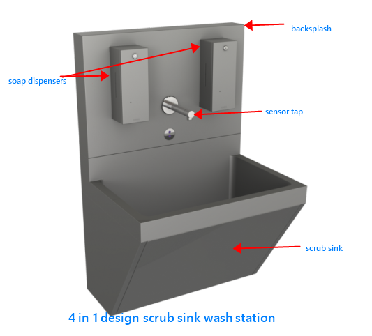 medical scrub sink