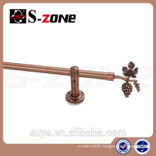 Fancy curtain rod design with eyelet for curtains rod end decorations made in China