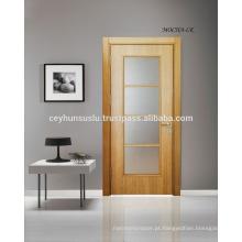 Alta qualidade Preço Afforable Porta de interior com janela revestida