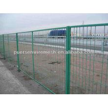 Grüne pvc beschichtete Autobahn Zaun