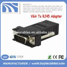 Fábrica Vender macho VGA para RJ45 conector fêmea adaptador