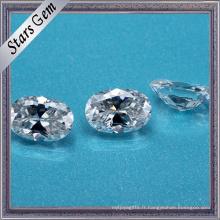 Chine Fournisseur Ovale Cut Syntheitc Moissanite Diamond