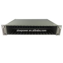 19-дюймовый 2U 16-слотовый медиаконвертер для монтажа в стойку Шасси для центрального источника питания, конвертер оптоволоконной среды