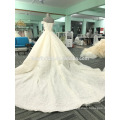 Sexy off the shoulder champagne women wedding dress 2017 luxury WT365