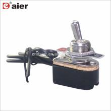 Daier ON-OFF 12VDC com fio de retorno de mola interruptor de alavanca