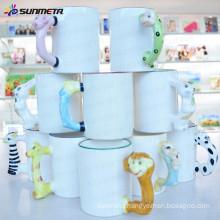 Sunmeta factory supply 11 oz blank Sublimation Mug with Animal Handle