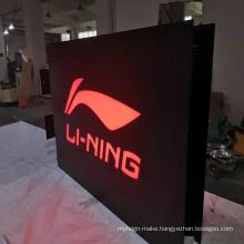 Custom illuminated acrylic led light up display sign double sides light box
