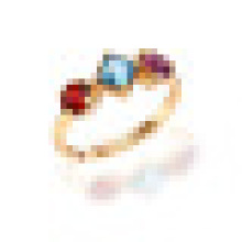 1.20 CT Triangle Natural Sky Blue Topaz Red Garnet Amethyst Rings 925 Sterling Silver for Women Wedding Fine Jewelry