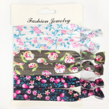 Flower Prints Elastic Band Hair Ties (HEAD-328)