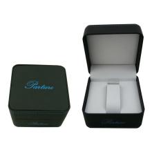 Soft Touch Papier Einzel Uhr Display Verpackung mit schwarzem Samt beschichtet