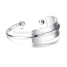 Neue Mode Platin beschichtet Messing weiß Twist Nagel Armreif Pflastern Zirkonia Armband Manschette