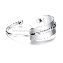 New Fashion Platinum Plated Brass White Twist Nail Bangle Pave Cubic Zirconia Bracelet Cuff