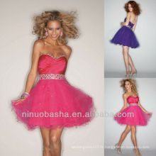 A Line Sweetheart Sequin Beading Lace Up Closure Homecoming Dress Graduation Gown