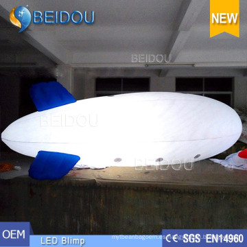 LED de PVC decorativo de aire inflable Helio Publicidad Dirigible RC Dirigible