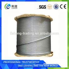 Cuerda de alambre de acero del elevador de la base del cáñamo 8x19s +