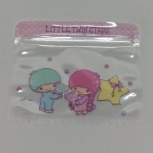 bolsa de almacenamiento de dibujos animados cremallera de sellado transparente