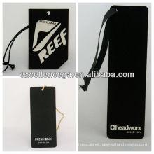 Hot sale black card hang tags